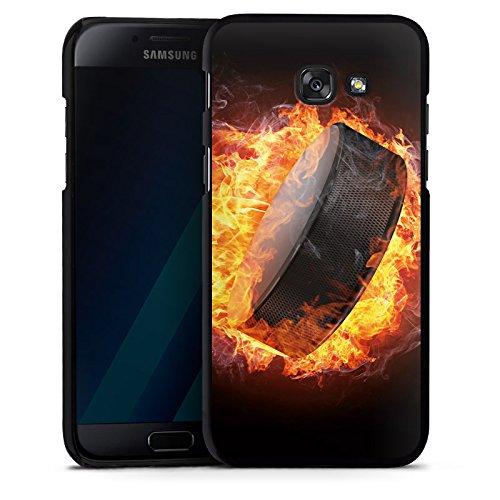 DeinDesign Hülle kompatibel mit Samsung Galaxy A5 (2017) Handyhülle Case Eishockey Flammen Slapshot