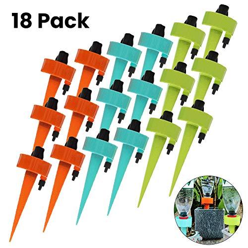 Do Happy 6/12 / 18 Stück Automatisches Bewässerungsgerät Tropfpflanzen Grassprinkler Bewässerungsspieß Kit Werkzeug - 18pc - 18pc