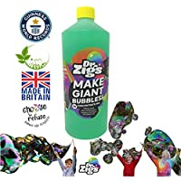 """Dr Zigs ORIGINAL Giant Bubble """"Triple Concentrate"""" Solution - 1 Litre Makes 3 Litres - Ideal Refill Solution Bubble Wands - Hours of Outdoor Fun for Kids - Great for Garden Games, Parties"""