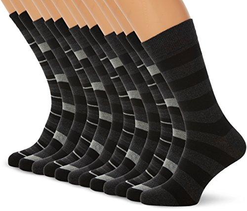 FM London Argyle, Chaussettes Homme, Noir (Striped), Unique (Taille Fabricant: UK 6-11)