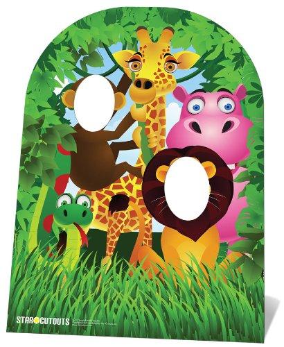 Star Cutouts Fotowand Dschungel, in Kindergröße