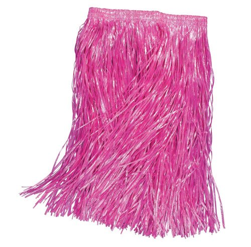 Hula Dress Fancy Girl (Childs Pink Grass Skirt Hawaiian Hula Girl Tropical Beach Party Fancy Dress by Home & Leisure)