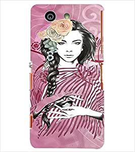 Fuson Peaceful Girl Back Case Cover for SONY XPERIA Z3 COMPACT - D3936