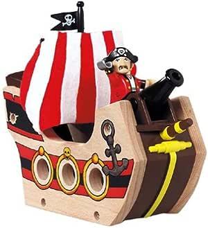 BRIO 33901 Wooden Railway System: Pirate Ship: Amazon.co ...