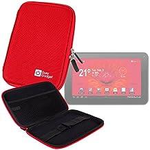 "DURAGADGET Funda Rígida Roja Para Tablet Woxter Dx 70 / Moonar Allwinner A13 9"" - ¡Guarde Su Tablet De Una Manera Segura!"