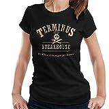 Cloud City 7 Terminus Steakhouse Walking Dead Women's T-Shirt