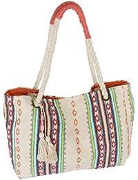 SIX SALE Festival große Stoff Tasche, Strand-Tasche, Damen Handtasche, Shopper, Day Bag, Beutel im ethno boho Look (463-288)