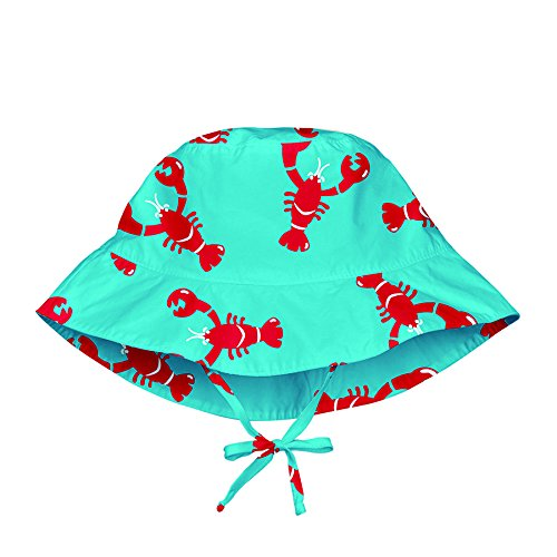 lassig-cappello-parasole-iplay-mod-bambini-sun-protection-50-multicolore-aqua-red-lobster-0-6-mesi