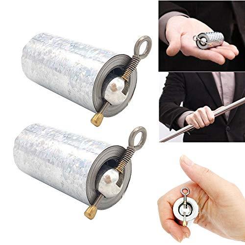 TAOtTAO Tragbare magische Teleskopstützen Stab tragbare Kampfkunst-Metallmagie Pocket Bo Staff- neue hochwertige Tasche (A x 2) (Spinner Und Spinner 2 Kostüme)