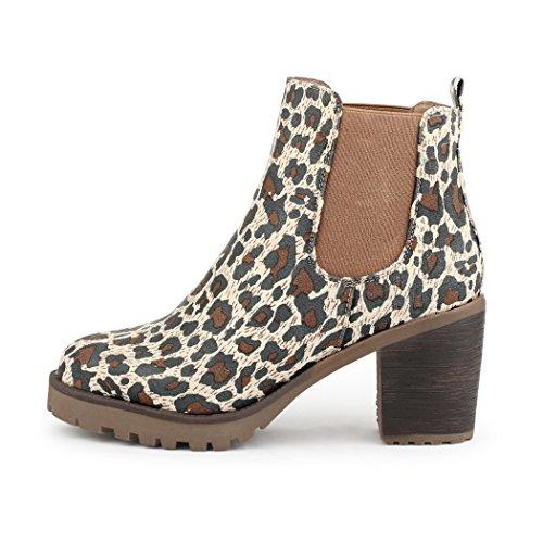 best-boots , chaussures compensées femme Multicolore - Leo Neu samt