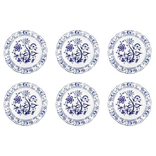 Triptis 1350380670024116 Romantika Zwiebelmuster Speiseteller, Ø 23,5 cm, Porzellan, weiß/blau...