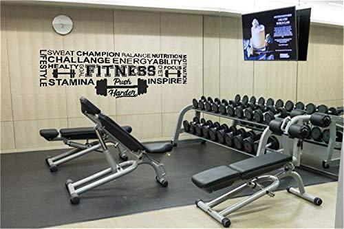 Pegatinas pared espejo Fitness Gym Etiqueta Fitness