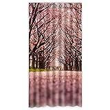 costumbre Peach Blossom 100% poliéster fábrica cortina Window Curtain (una pieza), Poliuretano, E, 50x96(inches)