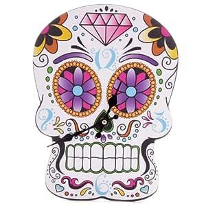 Puckator CKP64 Horloge Découpée Crâne Jour des Morts Mexicain Billingham 3 x 30 x 30 cm