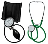 Blutdruckmessgerät Oberarm Profi Tiga Pro 1 Neuware Garantie K 1 + Stethoskop Flachkopf Grün Tiga-Med