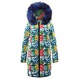 TianWlio Jacken Parka Mäntel Herbst Winter Damen Parka Kapuzenmantel Steppjacke Winter Lange Daunenbaumwoll Outwear (2XL, Blau)