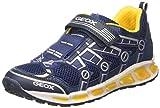 Geox Shuttle B, Jungen Sneaker, Blau (Navy/Yellow), 33 EU