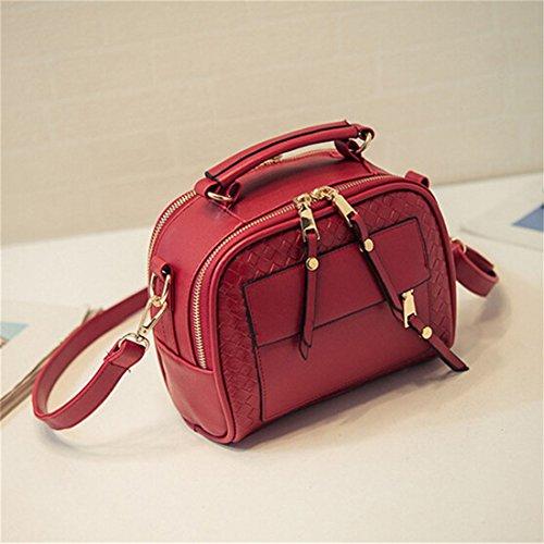LnLyin Mode Weben Muster Geprägte kleine Quadratische Tasche Tragbare Umhängetasche Handtaschen (Handtasche Geprägte Mode)
