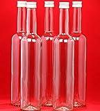 20 leere BORDO Glasflaschen 0,5 l Schnapsflaschen Saftflaschen Likörflaschen 500 ml slkfactory
