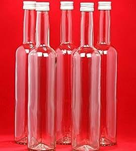 12 x 500 ml bouteilles en verre avec bouchon visser pour. Black Bedroom Furniture Sets. Home Design Ideas