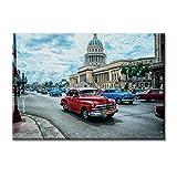 KiarenzaFD Leinwand-Panel Leinwand Kuba Havanna Taxi