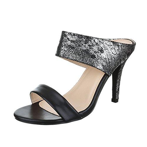 Ital-design Sandali Con Tacco Alto Scarpe Da Donna Plateau Penny / Tacco A Spillo Sandali Con Sandali / Sandali Neri