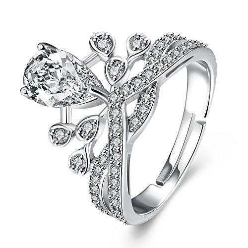 Via Mazzini Royal Crown Crystal Proposal Ring For Women And Girls (Ring0430) FREE SIZE