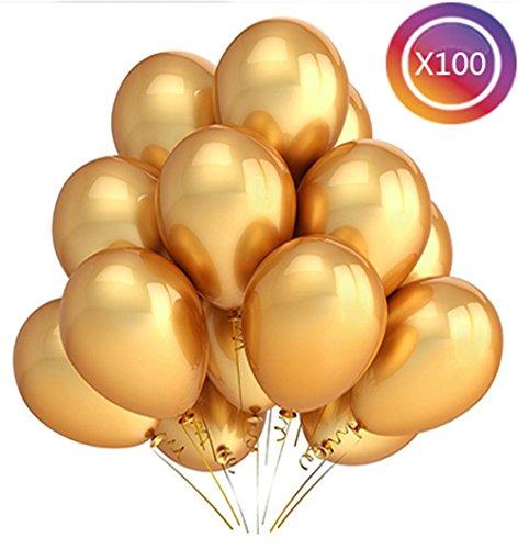 tankerstreet Latex Luftballons 30,5cm, Luftballons 100Stück für Kinder Baby Dusche Silvester Geburtstag Party Supplies Helium Spiel Beisammensein Hochzeit Dekoration Schule Karneval (Light Supplies Black Party)