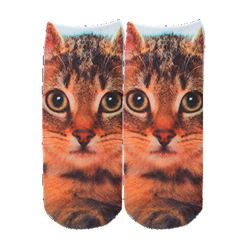 Sanwood Fashion Low Cut Ankle Casual Socks Animals Printed