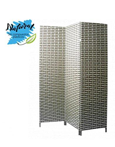 Biombo Green Natur de Bambú Natural Tres Paneles, para Salón/Dormitorio Natur 180 x 135 cm. - Hogar y más