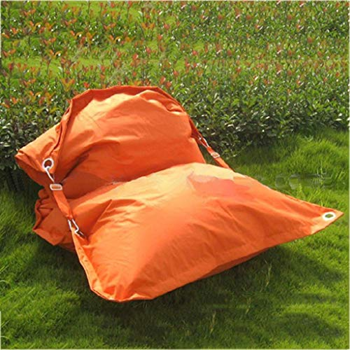 Canapés Pouf Poire Réglable Sofa De Tissu Coussin Extérieur Carré Bean Bag Simple pour Le Placement De Jardin De Pique-Nique (Color : Orange, Size : 55.1 * 39.4in)
