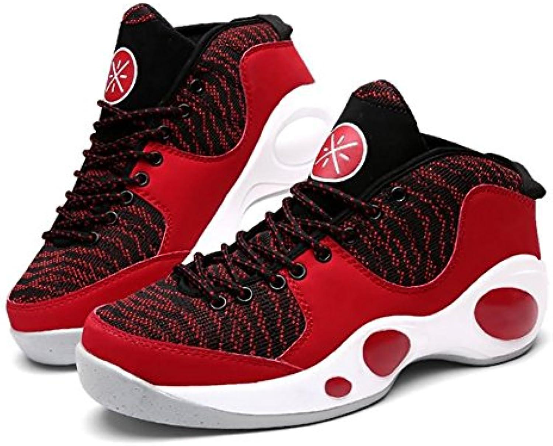 Männer Schuhe Stricken Leder Frühling Herbst Komfort Sportschuhe Basketball Schuhe Split Joint für Sportliche