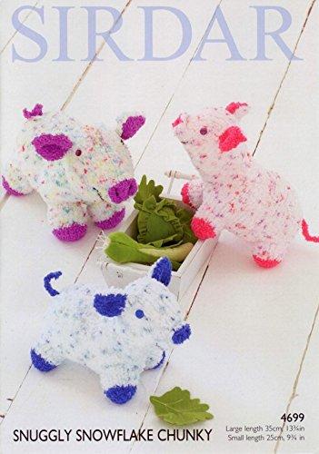 Sirdar Pig Soft Toys Schneeflocke Stricken Muster 4699Chunky -