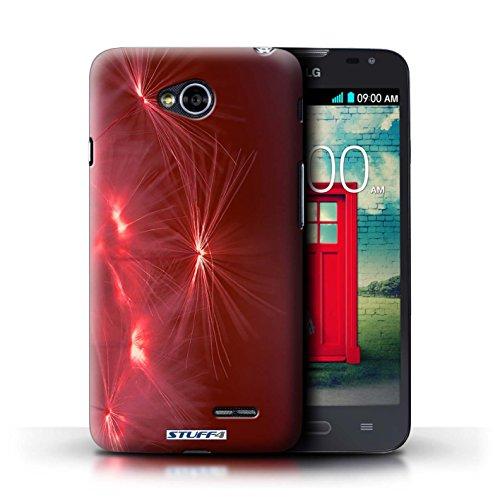 Kobalt® Imprimé Etui / Coque pour LG L70/D320 / Jaune conception / Série Allumez la vie Rouge