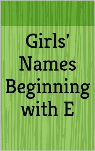Girls Names Beginning With E Letter Series Ebook Haley March
