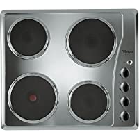 Whirlpool AKM330/IX/01 Built-In Solid Plate Hob, Stainless Steel