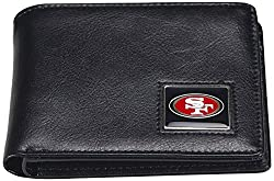 NFL San Francisco 49ers Men's Leather RFiD Safe Travel Wallet, 4.25 x 3.25