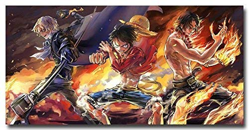 Weretlyop One Piece Luffy ACE 2015 Anime Art Silk Poster Print 24x13 inches 010