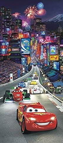 AG Design FTDv 0280 Cars Disney McQueen, Papier Fototapete Kinderzimmer - 90x202 cm - 1 Teil, Papier, multicolor, 0,1 x 90 x 202