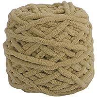 Wafalano DIY Scarf Sweater Towel Thick Yarn 95g 7mm Diameter Knitting Chunky Towelling Yarn Ball Khaki Color