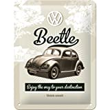 Nostalgic Art 26129 Volkswagen VW Beetle Retro Metal Sign / Poster 15 x 20 CM