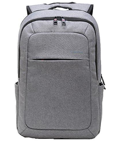 Santimon Herren Mode Laptop Rucksäcke Schlank Anti-Diebstahl Schulter Taschen Für Schule Reise Wandern Grosse Kapazität Tagesrucksack Upgrade-Hellgrau