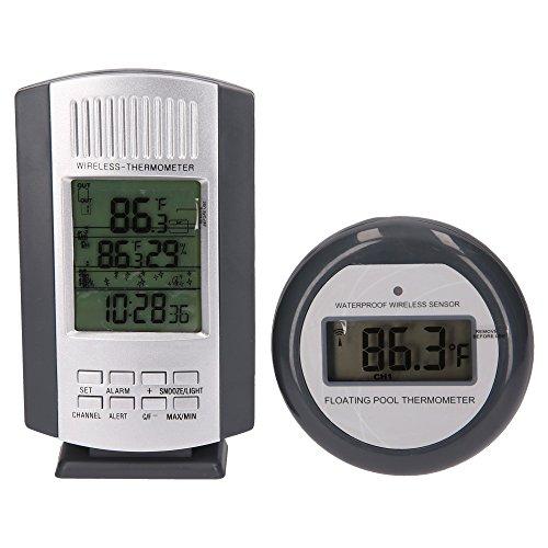 SL247 Digital Pool Thermometer Funk Schwimmbad, zur Kontrolle der optimalen Wassertemperatur I Digitales Teichthermometer I Kabellos