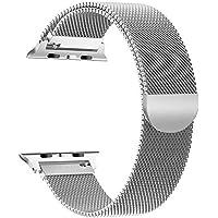 VODKER Apple Watch Cinturini 38mm 42mm Loop in Maglia Milanese Acciaio Inossidabile con Chiusura Magnetica Regolabile Bracciale Per iWatch Apple Series 3 Series 2 Series 1,Nike+,Sport,Edition
