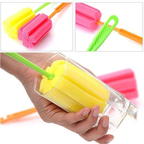 Sponge Glass Bottle Cup Cleaner Kitchen Washing Cleaning Tools Random Colors