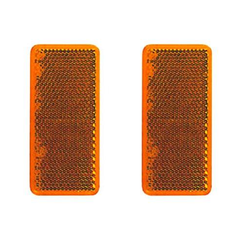 DEMA Rückstrahler 95x38mm orange selbstklebend 2Stk