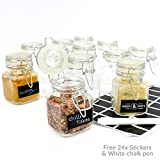 Mini Clip Top Glass Jars (8 x 5 cm) Preserve Jam Spice M&W 12 New