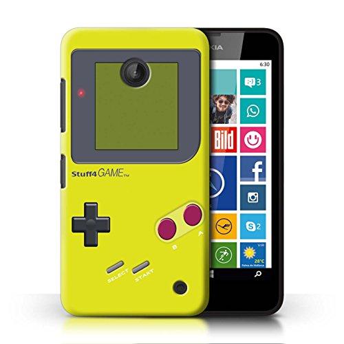 Stuff4 Hülle / Case für Nokia Lumia 635 / Gelb Muster / Videogamer/Gameboy Kollektion