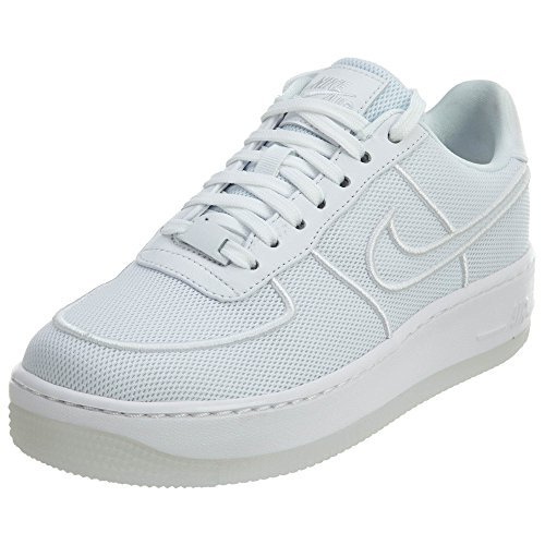 Nike Air Force 1 Low Upstep BR Women Sneaker Trainer (42 EU, white/white) Nike Air Force 1 Frauen