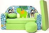 EX-Z16enfants Canapé ausklapp Bar Canapé-lit canapé Mini Basse 3en 1Ensemble pour bébé + Fauteuil pour enfant et coussin d'assise + matelas
